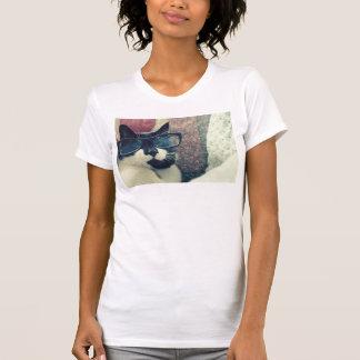 T-shirt gato do hipster