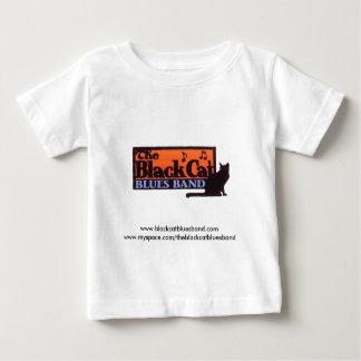 T-shirt Gato preto do bebê