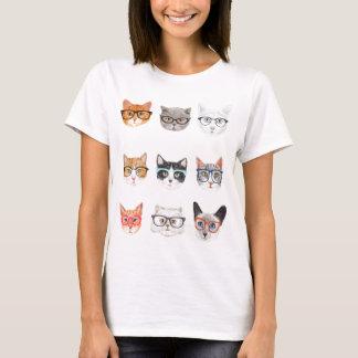T-shirt Gatos do hipster
