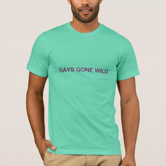 T-shirt Gay idos selvagens