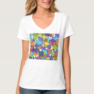 T-shirt geométrico do caos