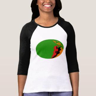 T-shirt Gnarly da bandeira da Zâmbia