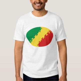 T-shirt Gnarly da bandeira de Congo-Brazzaville