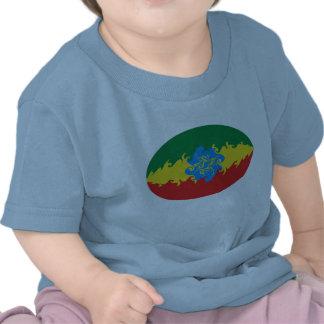 T-shirt Gnarly da bandeira de Etiópia