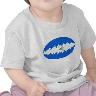 T-shirt Gnarly da bandeira de Nicarágua