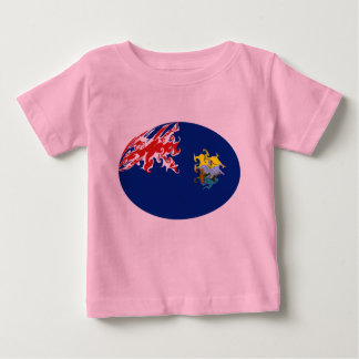 T-shirt Gnarly da bandeira de Santa Helena