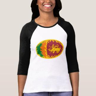 T-shirt Gnarly da bandeira de Sri Lanka