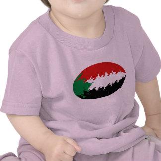 T-shirt Gnarly da bandeira de Sudão