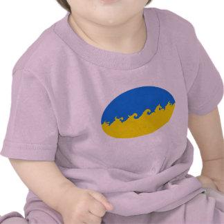 T-shirt Gnarly da bandeira de Ucrânia