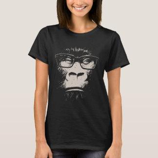 T-shirt Gorila do hipster com vidros