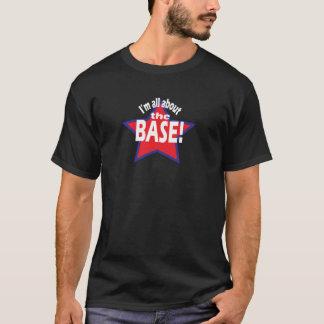 T-shirt gráficos do basebol - toda sobre a base!