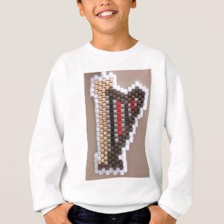 T-shirt Harpa frisada do ouro