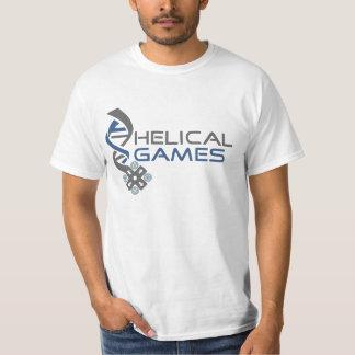 T-shirt helicoidal dos jogos
