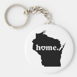 T-shirt Home de Wisconsin Chaveiro