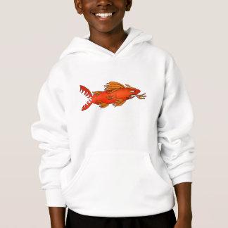 T-shirt Hoodie dos desenhos animados do tubarão da lava