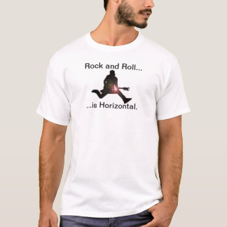 T-shirt horizontal do rock and roll