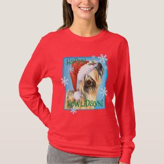T-shirt Howlidays feliz Skye Terrier