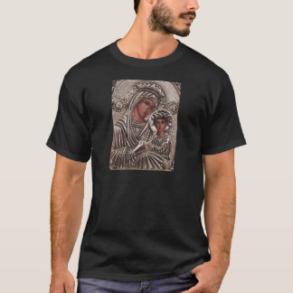 T-shirt Ícone da mãe e da criança, Madonna e Jesus na