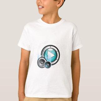 T-shirt ilustração da música com auto-falante e elemento