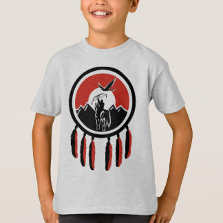 T-shirt indiano do protetor do nativo americano do