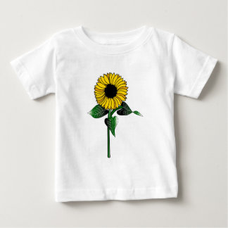 T-shirt infantil com arte do girassol