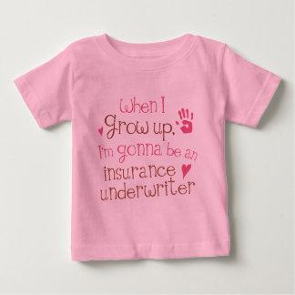 T-shirt infantil do bebê do segurador de seguro