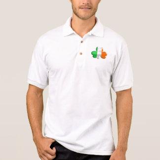 T-shirt irlandeses do trevo da bandeira