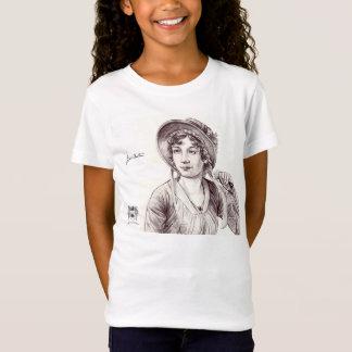 T-shirt Jane Austin com um sorriso