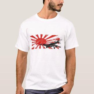 T-shirt japonês da bandeira de Sun de ascensão do