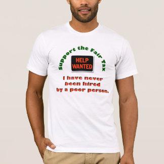 T-shirt justo do imposto do apoio