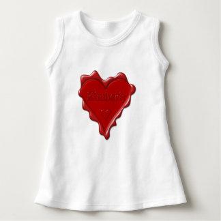 T-shirt Kimberly. Selo vermelho da cera do coração com
