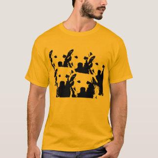 T-shirt Laranja do bloco do cão