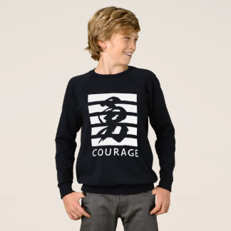 T-shirt legal da coragem (caráter chinês)