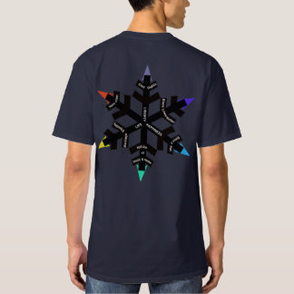 T-shirt liberal do floco de neve