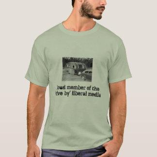 T-shirt liberal dos meios da condução