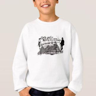 T-shirt Linha rápida vintage 1910 dos troles da costa