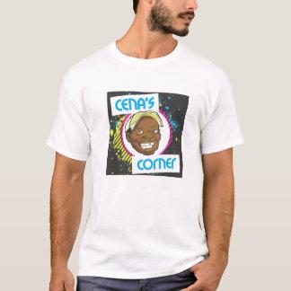 T-shirt liso de canto do logotipo de Cena