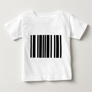 T-shirt listras pretas do código de barras
