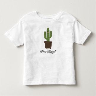 T-shirt livre da criança dos abraços   do cacto