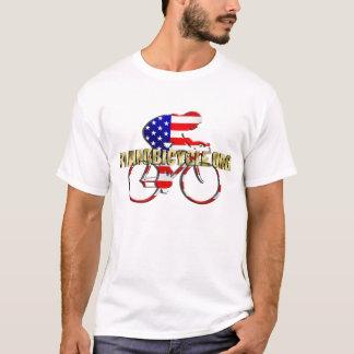T-shirt Logotipo americano do ciclismo do patriota da
