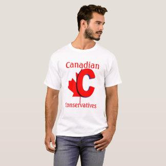 T-shirt Logotipo canadense do vermelho dos conservadores