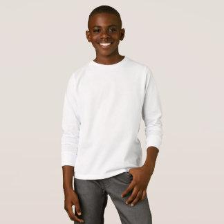 T-shirt longo básico da luva dos miúdos