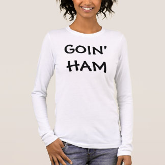 T-shirt longo da luva do presunto de Goin