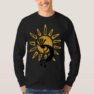 T-shirt longo da luva dos homens do ouro de