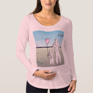 T-shirt longo de maternidade da luva de ILM