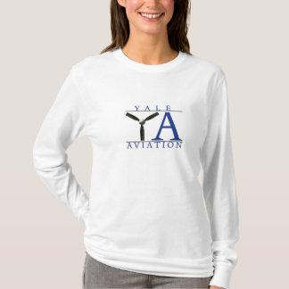 T-shirt Longo-sleeved aviação de Yale