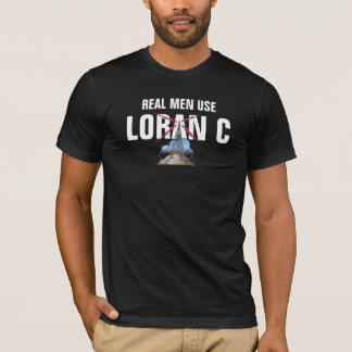 T-shirt LORAN real C do uso dos homens