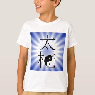 T-shirt Luz chinesa de Ying Yang do qui da TAI