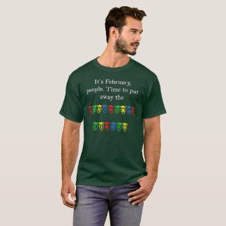 T-shirt Luzes de Natal em fevereiro