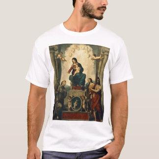 T-shirt Madonna com St Francis